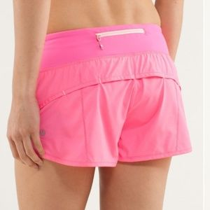lululemon athletica Shorts - Lululemon Speed Shorts Pink